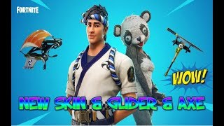 FORTNITE NOUVELLE MISE À JOUR PANDA CHEF D'ÉQUIPE - SUSHI MASTER SKIN - FLYING FISH GLIDER - FILET AXE OUT NOW