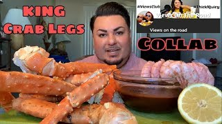 Alaskan KING Crab Legs | Introducing My Ahumado Sauce | Collab w/ Views on the Road