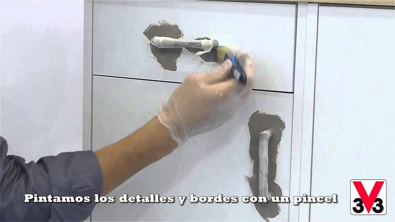 Paso a Paso Esmalte Renovación Muebles de cocina V33 - YouTube