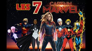 Les 7 Captain Marvel - Marvel Encyclopédie