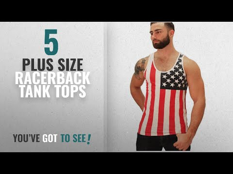 Top 10 Plus Size Racerback Tank Tops [Winter 2018 ]: PlayWorld Mens American Flag Star Print Tank