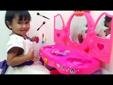 Mainan Meja Rias Anak Disney Princess Kids Make Up Let S Play Jessica Jenica Youtube