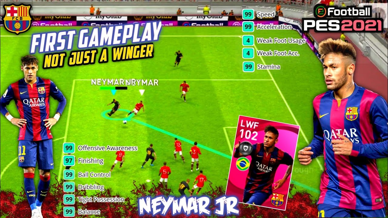 102 RATED ICONIC NEYMAR | FIRST GAMEPLAY IMPRESSION⚡ Is This The Best Prolific Winger??🤔PES 2021