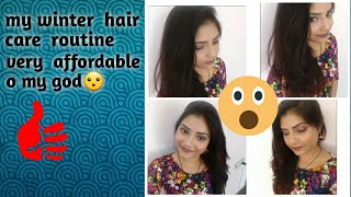 My winter  hair  care  routine  nd  very  affordable