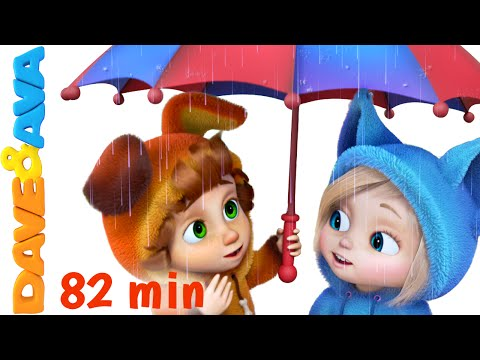 Thumbnail: Rain Rain Go Away | Nursery Rhymes Collection and Baby Songs from Dave and Ava