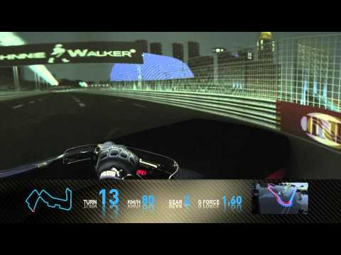 F1 Track Simulator - Mark Webber in Singapore