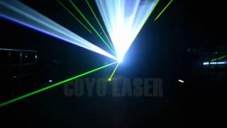 6W/7W/8W RGB Animasyon Lazer İLDA DT 40K Tarayıcı