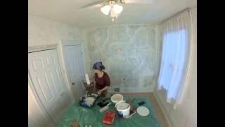 Skim Coat Gypsum Plaster Walls: Timelapse