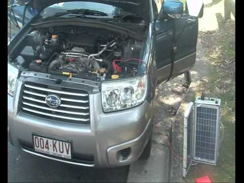 FREE ELECTRICITY - FREE POWER GENERATOR FLAT BATTERY DEMO STARTING A CAR!