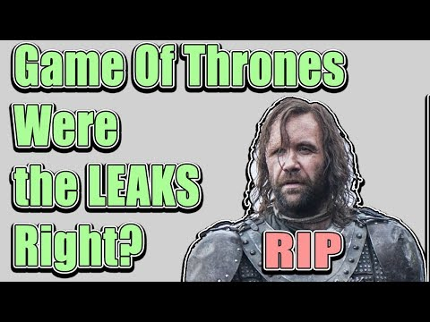 The Game Of Thrones Leaks WERE RIGHT! I CANT BELIEVE IT S08E05