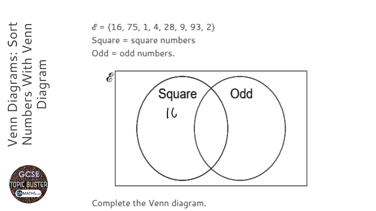 hight resolution of Venn Diagrams: Sort Numbers With Venn Diagram (Grade 4) - OnMaths GCSE  Maths Revision - YouTube