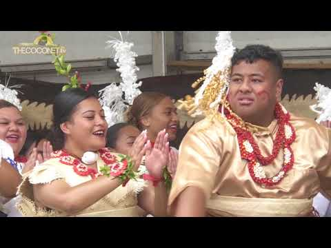 Polyfest 2018 - Tonga Stage:  Otahuhu College Lakalaka