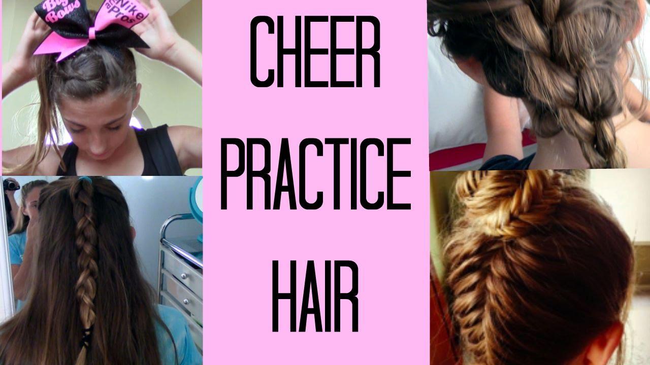 cheer practice hair ideas - YouTube