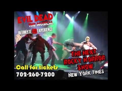 EVIL DEAD THE MUSICAL 4D Las Vegas 7/9/12 Trailer