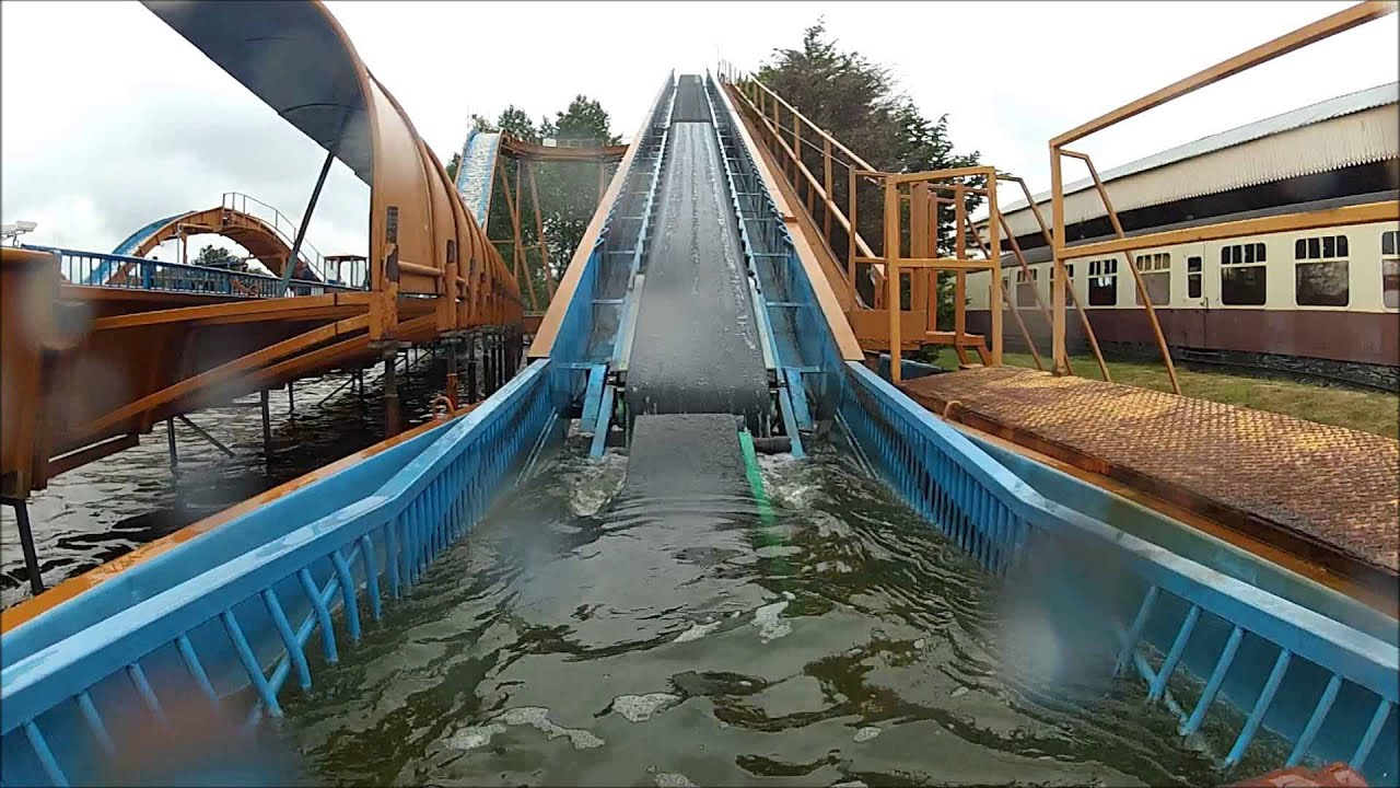 Timber Falls Ride Pov Pleasurewood Hills 22nd August