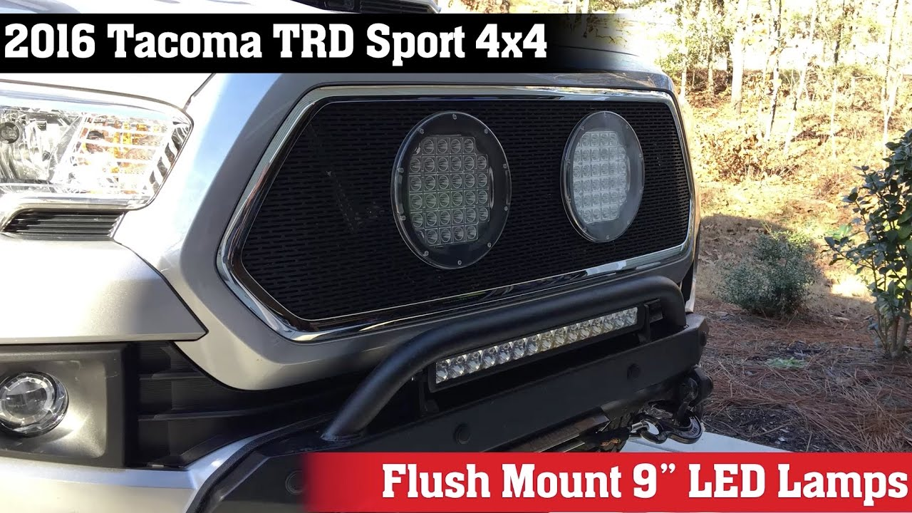 2016 Toyota Tacoma 9 Inch Offroad Lights Youtube