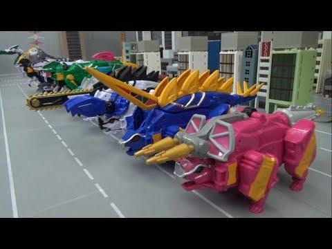 Power Rangers Dino Charge 10 Dinosaur Robot Transformation Toys 파워레인저 다이노포스 10대 공룡 로봇 변신 장난감