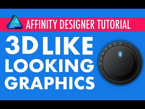 Affinity Designer - 3D looking graphics on 2D surfaces.