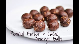 Peanut Butter & Cacao Energy Balls