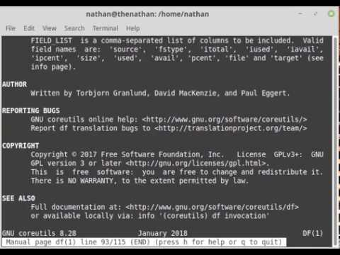 How to see file system disk usage from command line in Linux