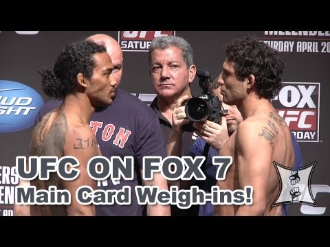 UFC on FOX 7: Main Card Weigh-ins + Face Offs (HD)