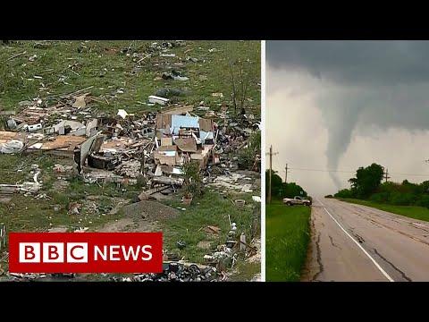 US storms: Hail, tornadoes and flash floods wreak havoc - BBC News