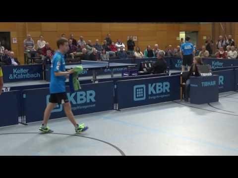 Petr David CZE vs Leonardo Mutti ItalyTabletennis Germany Second League 20161016 3