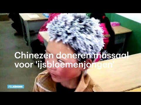 Massale steun voor bevroren Chinese 'ijsbloemenjongen' - RTL NIEUWS