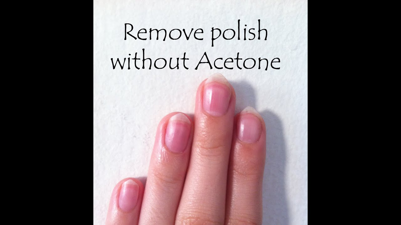 D.I.Y: How To Remove Nail Polish Without Acetone - YouTube