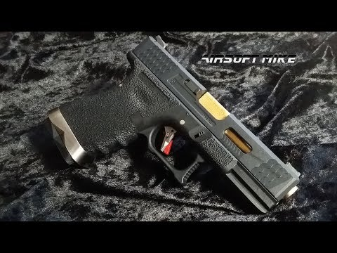 WE GLOCK G19 CUSTOM GOLD AND BLACK T1