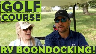 ⛳️🏌🏼♂️Golf Course RV Boondocking with Harvest Hosts Changing Lanes