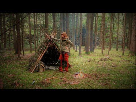 Ruf der Wildnis ????Bushcraft ???? (fast) Alleine im Wald - Primitive Shelter - minimales Equitment