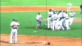 Pitcher consoles opposing batter who is his childhood friend instead of celebrating with team