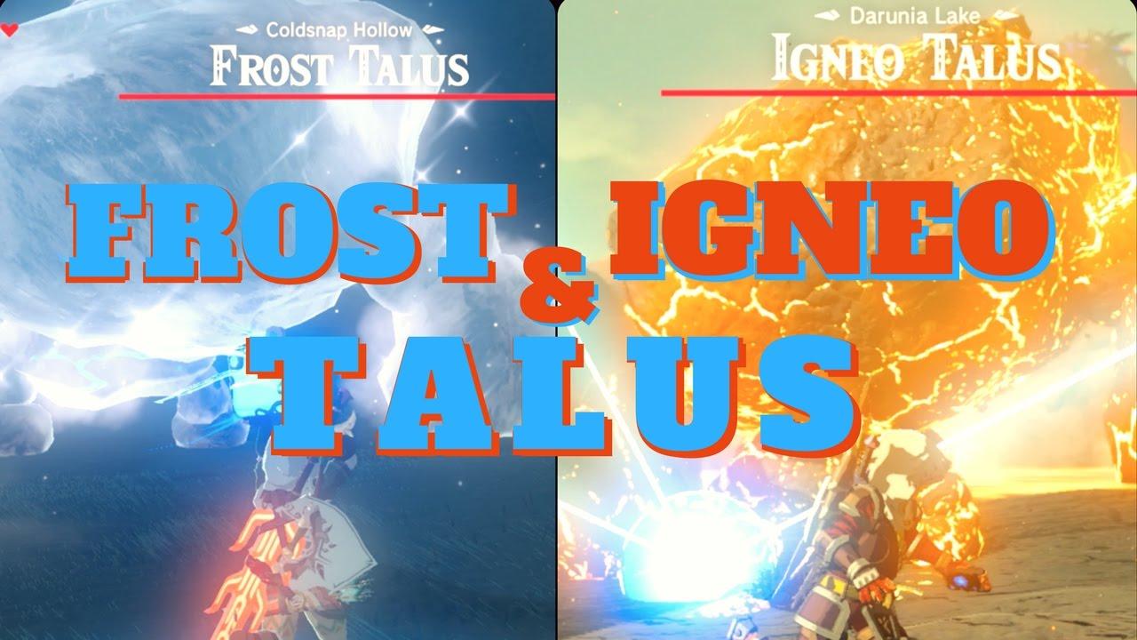 Frost Amp Igneo Talus Mini Bosses Zelda Botw Youtube