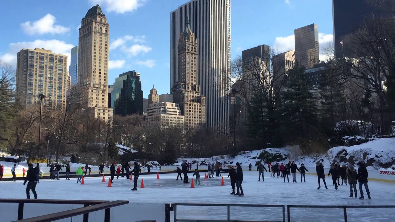 trump rink central park youtube