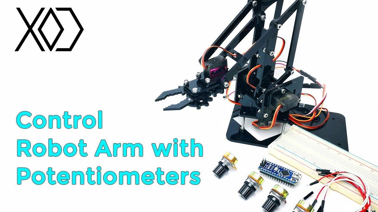 08# Arduino Visual Programming | Robot Arm Control with Potentiometers | XOD