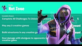 Fortnite Hot Zone Challenges