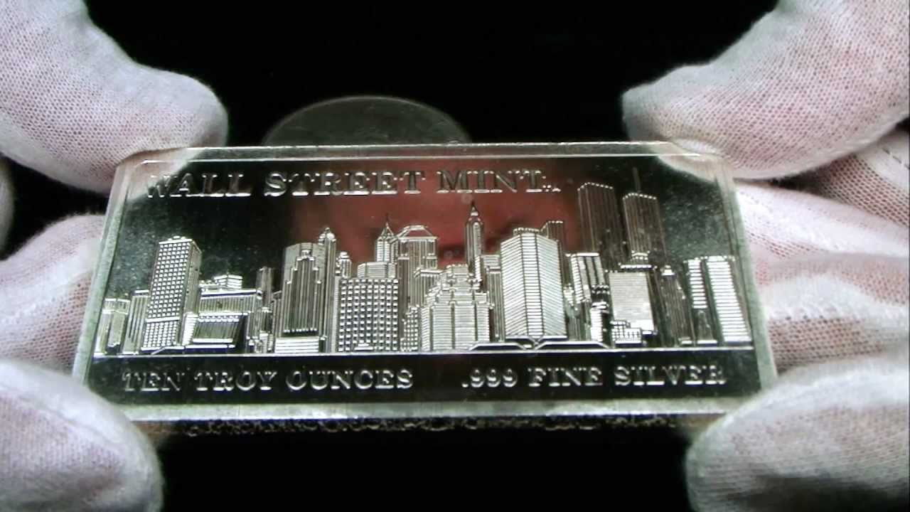 Wall St Mint 10 Oz Silver Bar Youtube