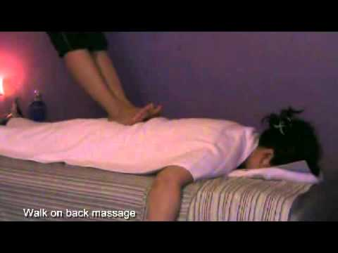Asian Body Massage Walk On Back Massage