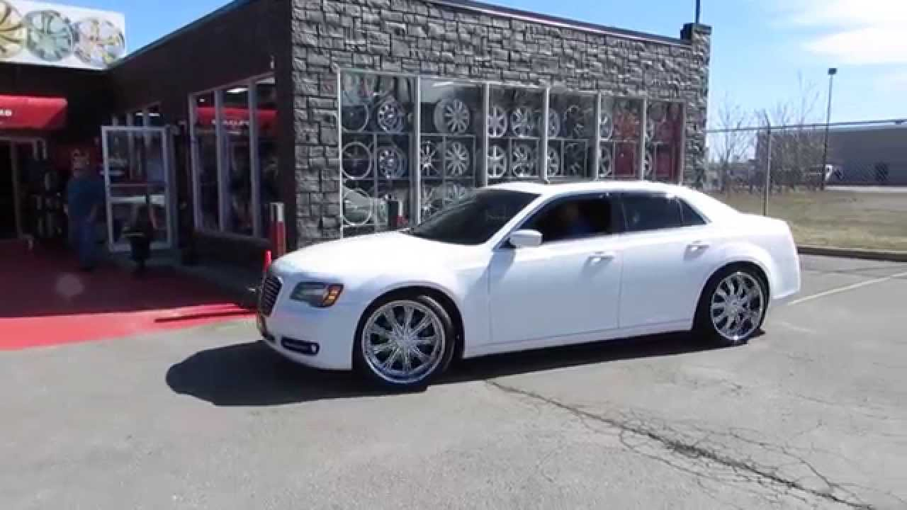 Chrysler 300 On Vogue Tires >> HILLYARD RIMS LIONS 2014 CHRYSLER 300 S RIDING ON 22 INCH CUSTOM CHROME RIMS&TIRES DEEP LIP ...