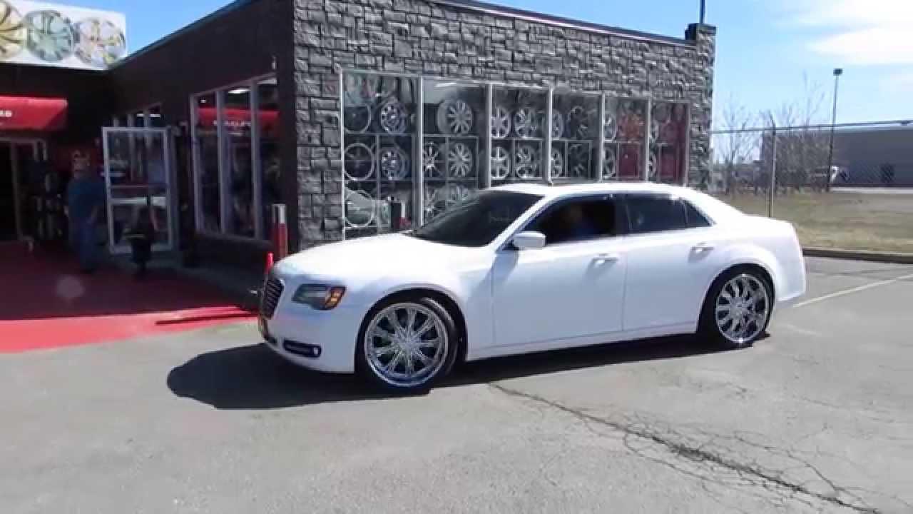 Hillyard rims lions 2014 chrysler 300 s riding on 22 inch custom chrome rims tires deep lip youtube