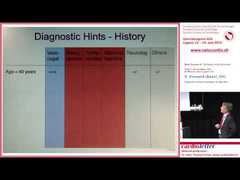 S. Osswald (Basel, CH): Diagnostic workup of syncope: an algorithm