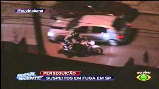 """Perseguição termina em execução ao vivo no """"Brasil Urgente"""" (23/06/2015)"""