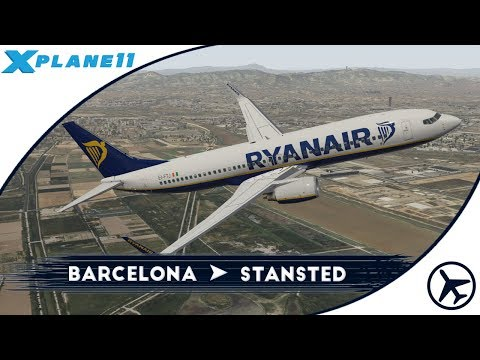 Toca estrenar Stansted, ¿no? | BCN - STN | Boeing 737-800 [Zibo] | XPlane 11