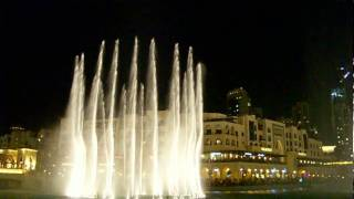 Dubai Fountain water show at the Burj Al Arab tower