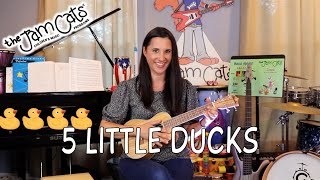 5 LITTLE DUCKS - Lelica Palecco | The Jam Cats Music | Kids Songs | Nursery Rhymes | Music Classes