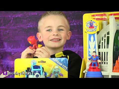 Imaginext BATMAN + Superman TOYS! Mini Mystery Funko Pop Toys Review by HobbyKidsTV