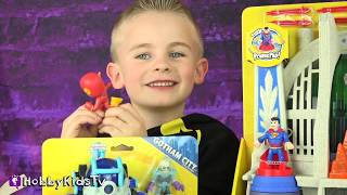 MEGA Box Opening of Imaginext BATMAN and Superman TOYS!