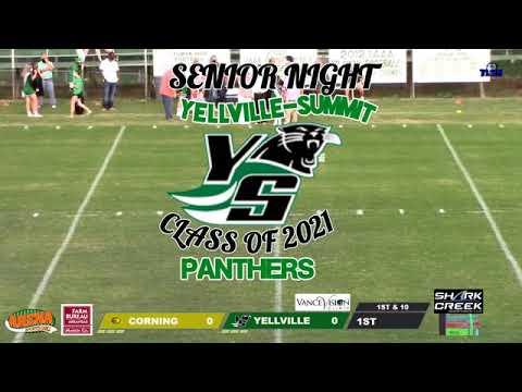 Corning at Yellville Summit High School Football Game and Senior Night Part 1