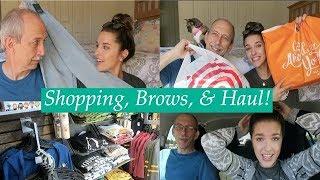SHOPPING, BROWS, & HAUL! | VLOG